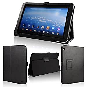 wisers 保護フィルム・タッチペン付 東芝 Toshiba Android (TM) タブレット A204YB Yahoo! BB 専用モデル 専用 ケース カバー ブラック