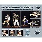 1/35 中東 民兵 テクニカルトラック用フィギュア[VM35009] 1/35 Civil Militia Corps for Technical Truck (3 Figures)