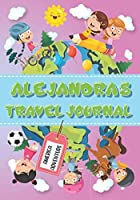 Alejandra's Travel Journal: Personalised Awesome Activities Book for USA Adventures