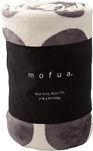 ナイスデイ 毛布 サークル柄グレージュ セミダブル (160×200cm) mofua モフア あったか 静電気防止対策 洗える 500002R3