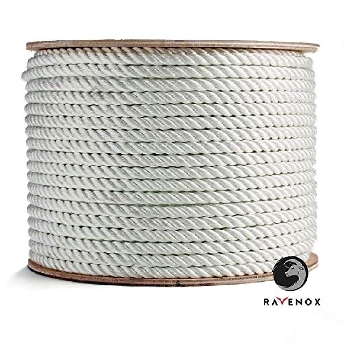 フィード意図する解放Ravenox ツイストナイロンロープ | 商用グレード | すべてのリフティング、引き抜き、リギング、牽引、固定、タイダウンのニーズに | 足と直径により | ミディアムストレッチ&耐薬品性