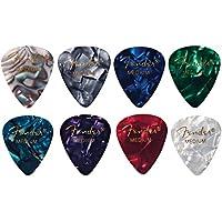 Fender 【8色アソート】 8枚(各色1枚)ティアドロップ MEDIUM ギター ピック…