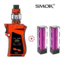 【2*efest電池付き】【SMOK正規品】Smok社最新の製品 225W SMOK Mag Kit Right handed 版 電子タバコ 爆煙 MagボックスMODと8ml TFV12 プリンス アトマイザータンクバッテ リーなしの電子タバコのVape 禁煙減煙サポート (赤 red)