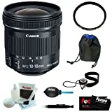 Canon EF-S 10-18mm f/4.5-5.6 IS STM Lens + 67mm UV Protector + Lens Pouch + Accessory Kit [並行輸入品]