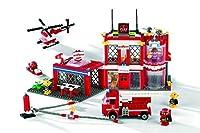 BanBao Fire Station Toy Building Set 702-Piece [並行輸入品]