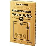 厚口半透明ポリ袋 90L 100P BOX HD-894