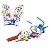 ブルーティーゴルフ 【BLUE TEE GOLF】 全天候型・極細糸繊維使用♪ 【女性用:両手】ゴルフグローブ (ホワイト) (20cm)