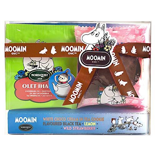 ムーミン Moomin ノードクヴィスト NORDQVIST フレーバー ブラックティー(ワイルドストロベリーとレモン)&ココアクッキー プチギフトA
