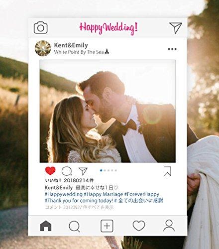 SNSパネル 撮影用 インスタ映え◎ 結婚式・店舗紹介・誕生日・イベントPR・二次会・コスプレイベント などの写真撮影を印象的に (A1, 結婚式)
