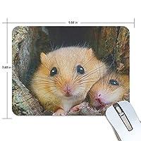 マウスパッド ハムスターの親子 ゲーミングマウスパッド 滑り止め 19 X 25 厚い 耐久性に優れ おしゃれ