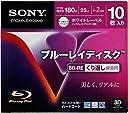 SONY 繰り返し録画用BD-RE 25GB 2倍速対応 ホワイトプリンタブル スリムケース 10枚 10BNE1VDPS2 PC
