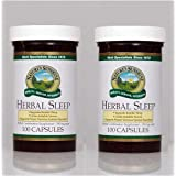 Nature's Sunshine Herbal Sleep Nervous System Support Herbal Combination Supplement 100 Capsules (Pack Of 2)