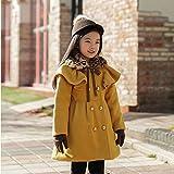 MINEKA 女の子 冬 コート アウター ベンチコート レッド/カーキ100~120cm ファー付き外す可 (4T, G.DY.0101161/カーキ)