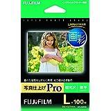 FUJIFILM 写真用紙 画彩 超光沢 厚手 L 100枚WPL100PRO