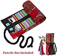 (72) - Father's Day Gifts-Valentoria Red Tree Canvas Sketching Drawing Pencil Wrap Pouch Roll Up Case Holder Storage Bag (72)