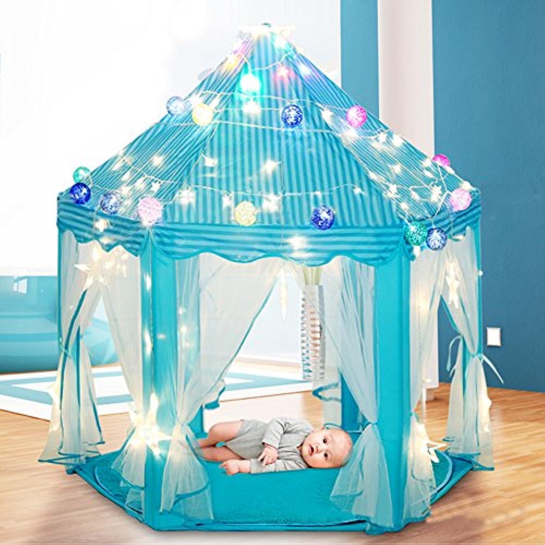 luermeキッズプリンセス城子供用ガールズインドアFairy PlayhouseアウトドアGarden Play Tents 140 135 cm