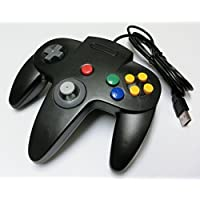 PC-USB N64型コントローラー(ブラック)(ノーブランド品)