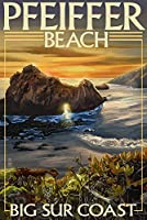 Pfeiffer Beach , California 12 x 18 Art Print LANT-37030-12x18