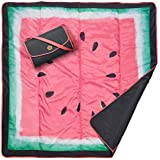 JJ Cole All-Purpose Outdoor Baby Blanket, Lightweight & Water-Resistant, Watermelon, 5' x 5'