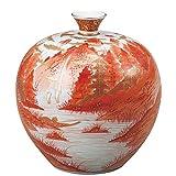 九谷焼 花瓶 赤絵山水 (陶器 和風 花器 インテリア プレゼント)