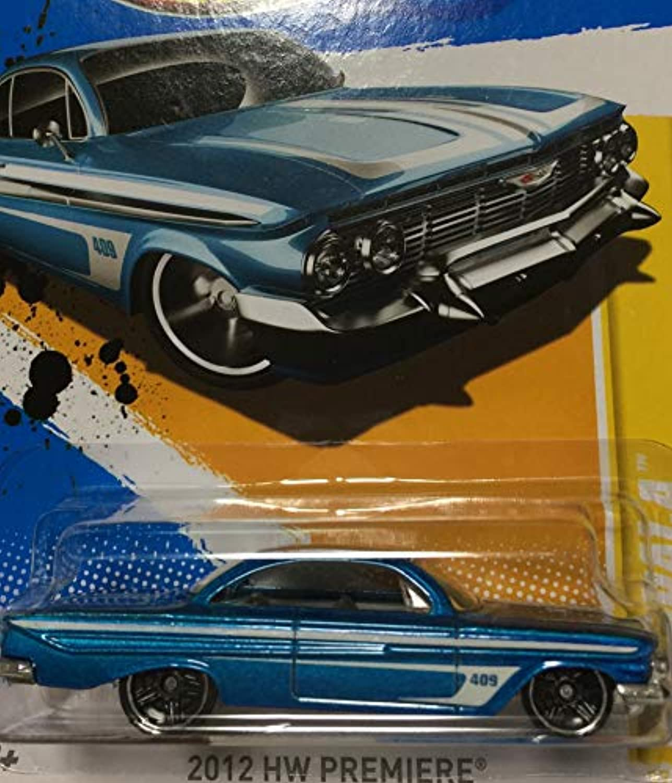 HOT WHEELS ホットウィール '61 impala インパラ ブルー #37