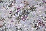 ノーブランド品 有輪商店のミュルーズコレクション 10番かつらぎプリント 薄いパープル系 約110cm×約50cm 【ハンドメイドのための小さな布】