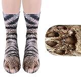 笑え熊 ソックス 3Dプリント 動物の足 可愛い 面白い 大人子供 親子服 男女兼用