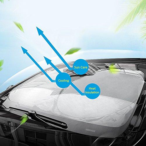 Wsiiroon サンシェード 車用 遮光 フロントガラス用...