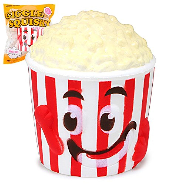 1pcジャンボSquishy SmileポップコーンカップスーパーSlow Risingクリーム香りつきオリジナルパッケージStress Reliefおもちゃ電話ストラップ