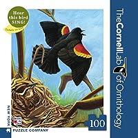 ニューヨークパズル会社–コーネルラボハゴロモガラスMini–100ピースジグソーパズル