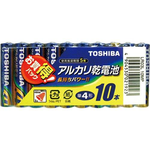 東芝 アルカリ乾電池 単4形1パック10本入
