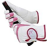 アーノルドパーマー Arnold Palmer(アーノルドパーマー) レディース両手用グローブ ホワイト×ピンク APG-115L 21cm