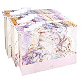 CharaVector Hanging File Folders Letter Size Assorted Durable Refined Design, 1/5-Cut Adjustable Tabs,12pcs with Gift Box,Marbling