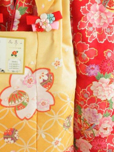 花 夢二 七五三 3歳~4歳用 女児祝い着 被布コートセット