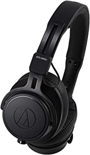 Audio Technica ATH-M60X On-Ear Closed-Back Dynamic Professional Studio Monitoring Headphones, Black