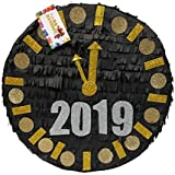APINATA4U 2019 新年ピニャータ 16インチカウントダウンクロック