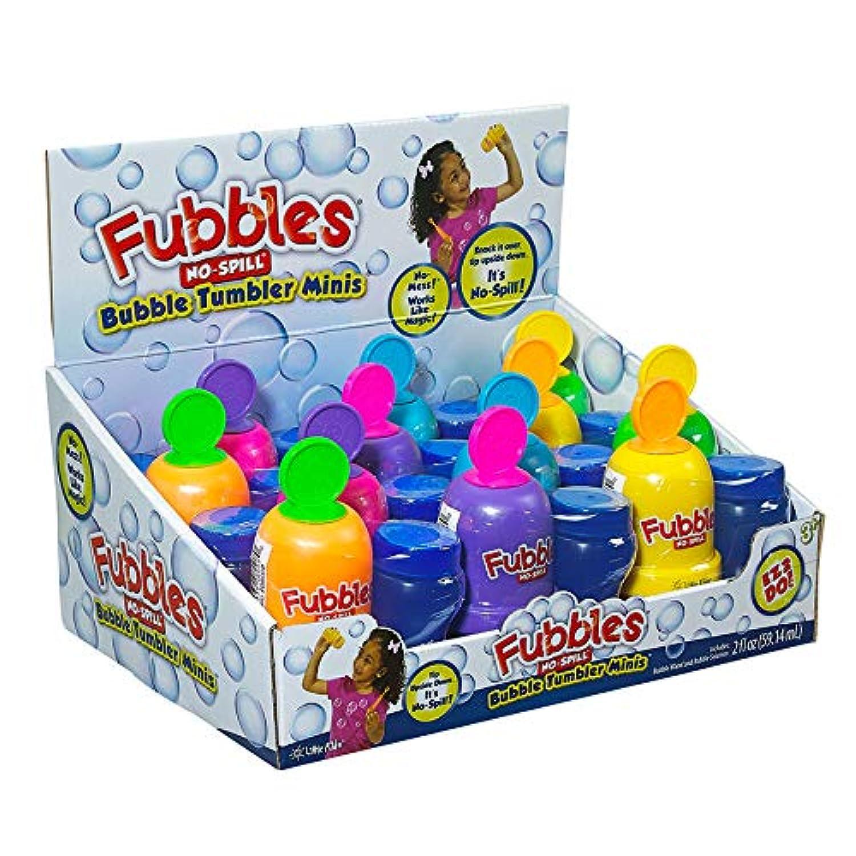 Fubbles No-Spill Bubble Tumbler Minis Pastel Colors 3-Set by Little Kids
