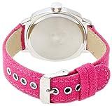 腕時計  DEEP(ディープ) アナログレザーウォッチ ボタン ピンク DT064-2 レディース フィールドワーク画像②