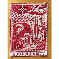 値下げ~ 北欧スウェーデンクリスマスの夜<1977年>誕生の日天使がお祝いクロスステッチ刺繍壁掛けタペストリ