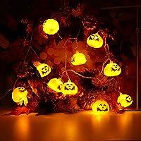 Kukiwaハロウィン かぼちゃ led 点滅2.5M  電池 イルミネーションライト 電球 20LEDカボチャ ハロウィンランタン クリスマス ツリー 飾り イルミネーション 電飾 クリスマスライト ハロウィン飾り