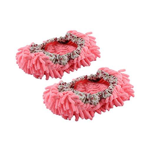 uxcell モップスリッパ靴 家庭用品 床つや出し ゴミ掃...