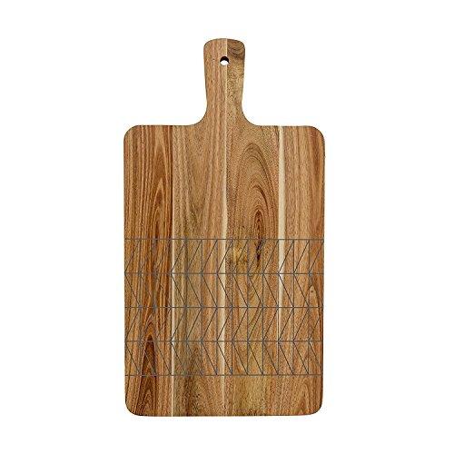 RoomClip商品情報 - Bloomingville Acacia Wood Cutting Board with Grey Print, Brown [並行輸入品]