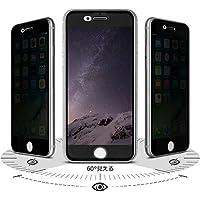 Arbalest iPhone8 Plus/iPhone7 Plus/iPhone6s Plus ガラスフィルム 覗き見防止 3D曲面 全面 高透過率 アイフォン8プラス 7プラス 6sプラス フィルム ケース に干渉せず 3Dタッチ対応 薄型 耐衝撃 気泡防止 iPhone 8 Plus/7 Plus/6 Plus 保護フィルム 黒(5.5インチ)