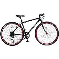 CORVETTE(コルベット) AL-CRB7006 700c クロスバイク 軽量アルミフレーム シマノ6段変速 鮮やか前後アルマイト塗装リム 前輪クイックレリーズ シボレーコルベットWネームスタイリッシュクロス 84103