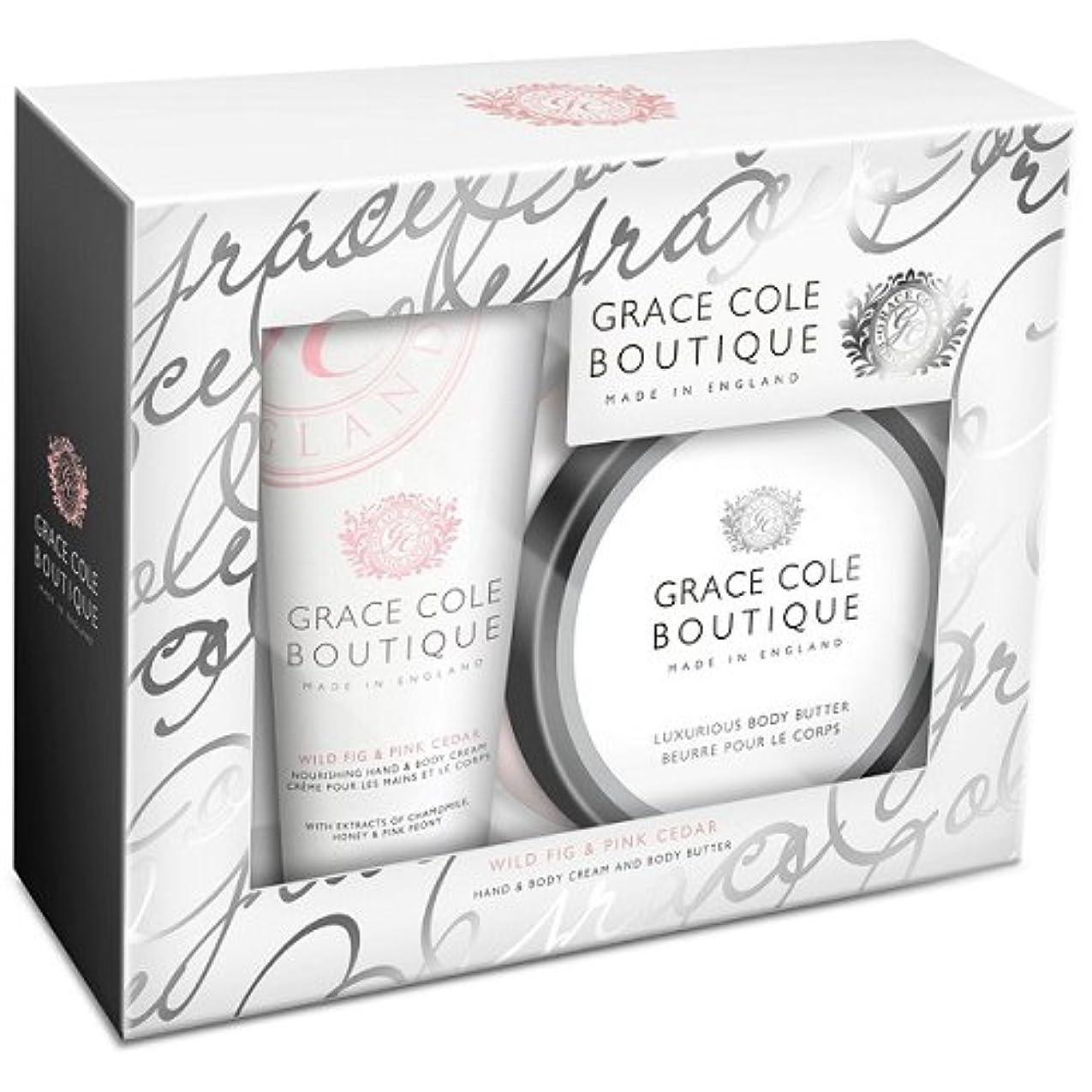 ブレス既婚征服するグレースコール ブティック ボディバター BOXセット ワイルドフィグ&ピンクシダー