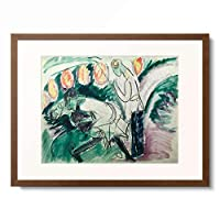 エルンスト・ルートヴィヒ・キルヒナー Ernst Ludwig Kirchner 「Pantomime III」 額装アート作品