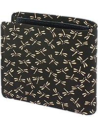 INDEN-YA 印傳屋 印伝 財布 二つ折り財布 メンズ 男性用 黒×白 とんぼ 2006-11-008