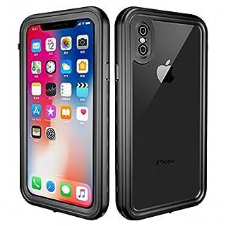 5706bc605c iPhone X ケース 超薄 軽量 指紋認証対応 IP68防水防塵 防雪 耐衝撃 防水カバー 全面保護 防水ケース