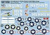 キッツワールドデカール 1/72 第二次世界大戦 アメリカ軍 P-47C/D サンダーボルト ハブ・ゼムケ 第56戦闘グループ マーキングセット2 プラモデル用デカール KW172211