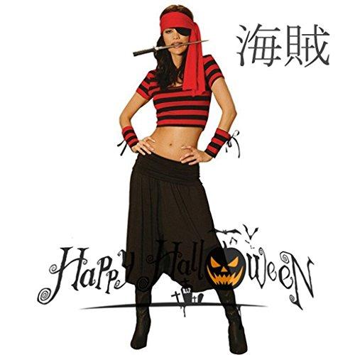 ハロウィン 海賊服/魔女 巫女 悪魔カリブ海/パイレーツオブカリビアン風 女性用 水手コスプレ コスチューム衣装仮装ハロウィン 衣装 COSPLAY仮装 変装
